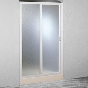 Porta Riducibile Box Doccia Smart BSE124001 Telaio Bianco Acrilico ...