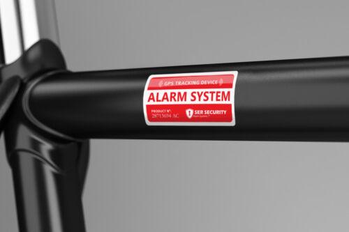 GPS Tracking device Bicycle Lock Security Warning Decal 2X ALARM LOCK STICKER