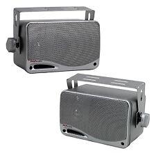"2) PYLE PLMR24S 3.5"" 200 Watt Marine Audio Water Proof Mini-Box Speaker System"