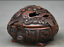 3-8-034-Old-Chinese-Red-Bronze-Dynasty-Beast-Zun-Statue-Incense-Burner-Censer thumbnail 3
