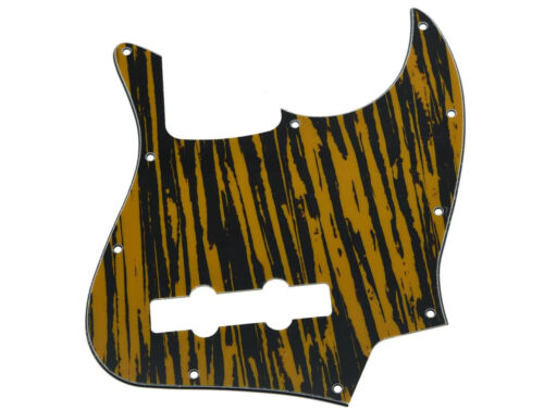 * NEW Tawny Stripe PICKGUARD for Fender Jazz Bass 3 Ply Standard 10 Hole
