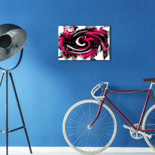 AB171 Pink Black Spiral Modern Abstract Canvas Wall Art Large Picture Prints