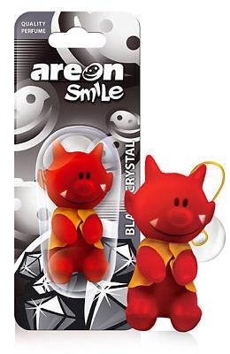 3 X Areon Smile Giocattoli Auto Profumatori Ambiente Cristallo Nero Deodorante Alta Resilienza