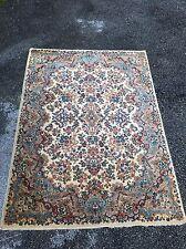 4x6 Vintage KARASTAN Floral Kirman Pattern #742 5530 Wool Rug Msrp $1600 Beauty