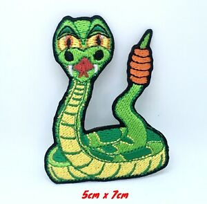 Bande-Dessinee-Claquement-Serpent-Brode-Repasser-Patch-a-Coudre-814