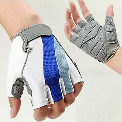 NEW Cycling Motorcycle Bicycle Bike Gel Silicone Half Finger Fingerless Gloves