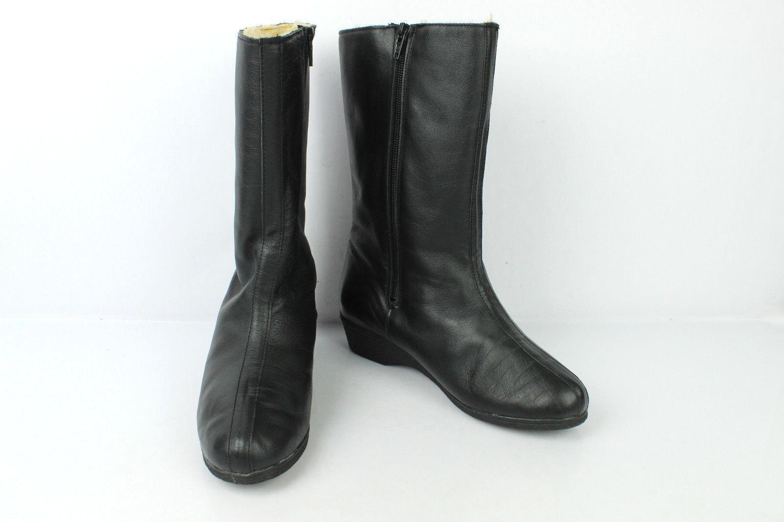 Mi botas forradas Cuero Negro T 38 MUY BUEN ESTADO ESTADO ESTADO  respuestas rápidas