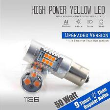 2X 1156 50W High Power 950LM LED Yellow Amber Turn Signal Brake Tail Light Bulbs