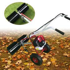 2 Stroke 17 Hp 52cc Gas Power Handheld Sweeper Broom Driveway Turf Snow Clean