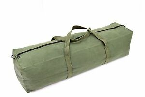NATO Green Tool Bag Kit Bag Carry Bag Small Canvas Pack Equipment Army Surplus