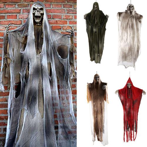 Halloween Figur hängende Schädel Skeleton Geist 1.8m Dekoration Tod Skelett