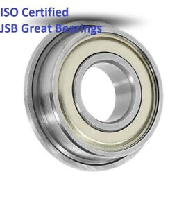 (Qty.10) Flange ball bearing MF63-ZZ metal shields MF63 high quality MF63-2Z
