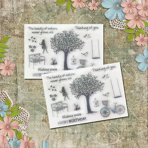 1X-Silikon-Stempel-clear-stamps-Sammelalbum-Karte-Kunst-DIY-hot-L0Z1