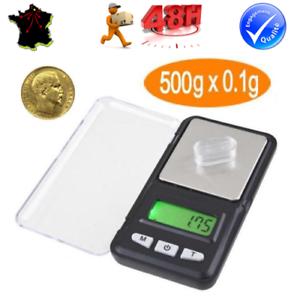 500g x 0,1g BALANCE DE POCHE digitale à écran LCD bijoux, or // précision 0,1g