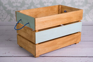 Image Is Loading Wood Toy Box On Wheels Case For Toys