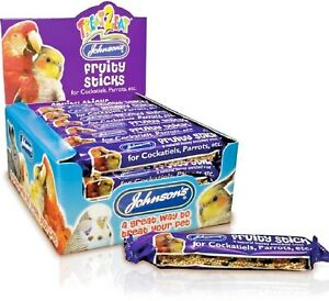 PARROT-FRUITY-STICKS-45g-x28-Johnsons-Cockatiel-Bird-Food-Treat-bp-Feed