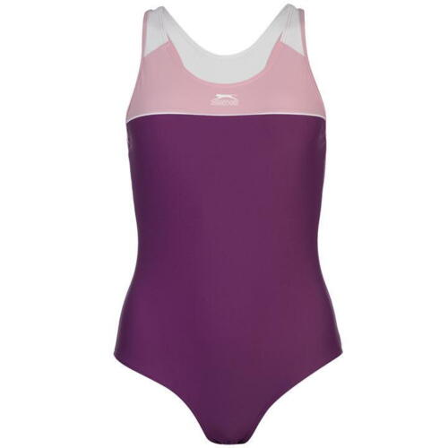 Womens Slazenger Racer Back Swimsuit One Peace Swimming Costume Swimwear