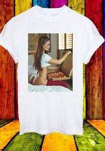 Sexy-Ragazza-della-pizza-su-cibo-cattivo-letto-Nude-Uomini-Donne-Unisex-T-shirt-2751