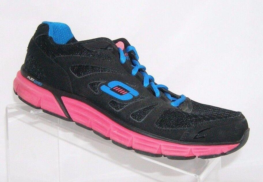 Skechers Sport black women's Overtime fashion lace up sneaker shoe 11679 9.5 Wild casual shoes