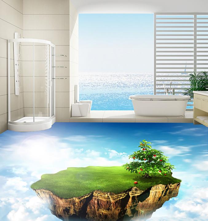 3D Sky Fruit Tree Lawn 7 Floor WallPaper Murals Wall Print Decal AJ WALLPAPER US