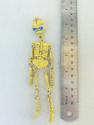 Zac/'s alter ego ® Colgante de llaves esqueleto Calavera en en cera Collar cordón de algodón