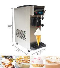 Single Flavor Table Top Soft Ice Cream Machine Single Cylinder 110v Ss Usa Sale