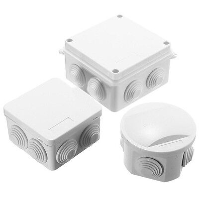 UK Pro Waterproof Electronic Junction Box Enclosure Case Outdoor Terminal Cable!
