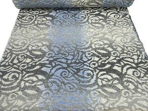 das bild wird geladen stoffrest 35x160cm musterwalk farbverlauf relief grafische muster grau - Grafische Muster