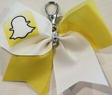 Cheer Bow Ribbon Keychain - Snap chat