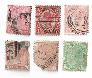 UK-Queen-Victoria-stamps-x-6-UK-amp-Empire-All-damaged-Batch-4