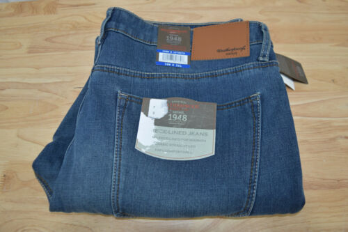 Neuf avec étiquettes pour homme Weatherproof vintage coupe droite doublée en polaire Jeans variété disponible!