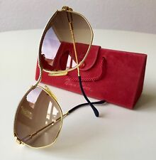 vintage FRED CYTHERE sunglasses unisex France rare gold plated America Cup Force