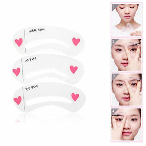 Korean-3-Style-Mini-Brow-Class-Drawing-Guide-Eyebrow-card-Template-helper-RK