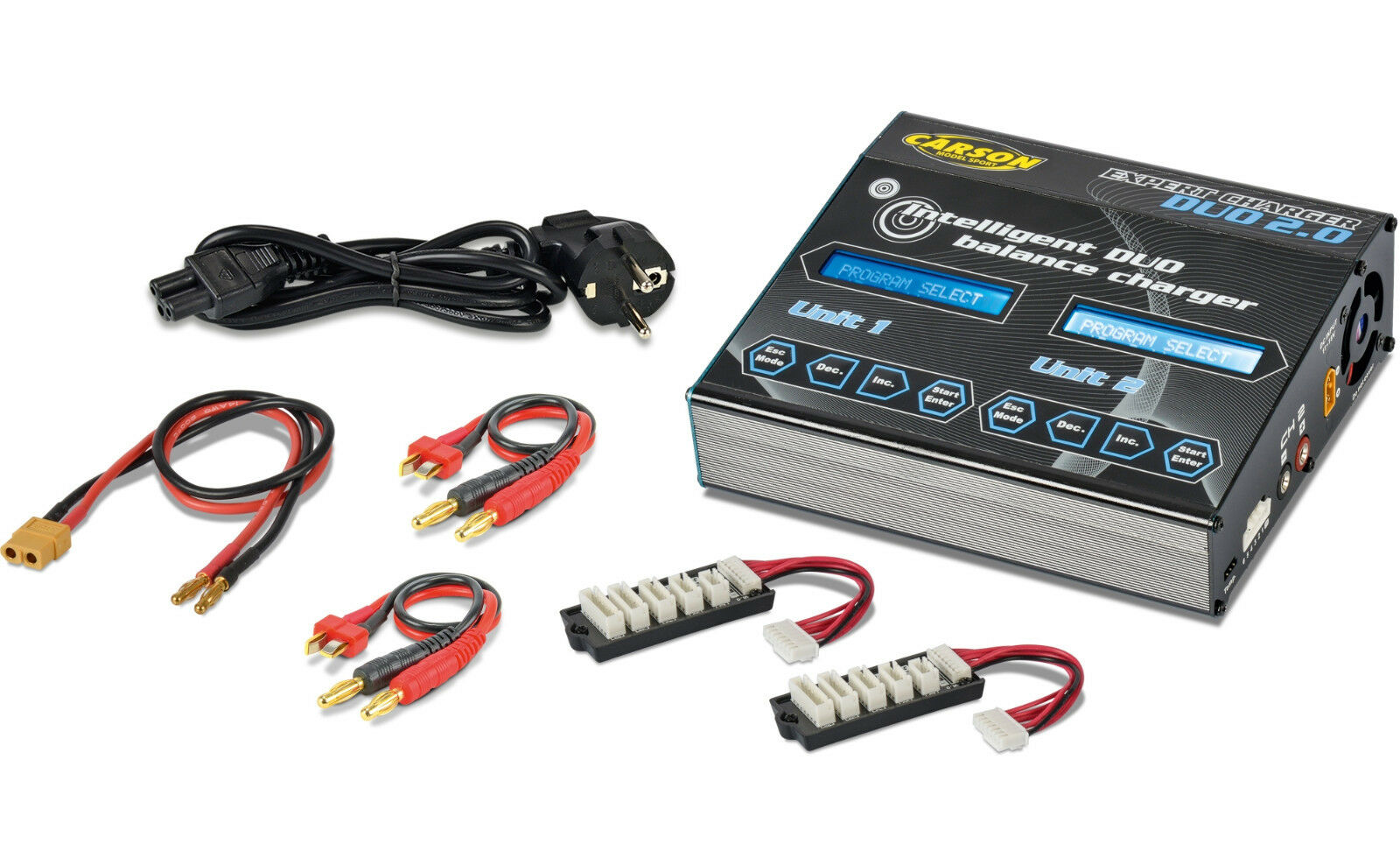 Carson 500608190 Expert Charger Duo mercancía nueva 2.0