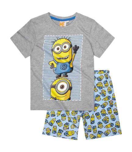 NEU MINIONS Shorty-Pyjama Schlafanzug 100/% Baumwolle Gr 116-152