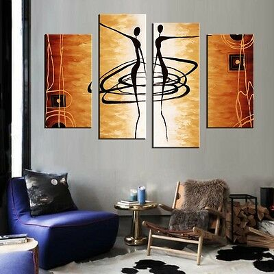 CHOP805 100/% hand painted abstract lover wall decor oil painting art canvas