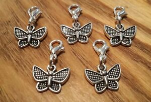 Stitch-Markers-Knitting-Crochet-Accessory-butterfly-Charms-needlecraft-set-of-5