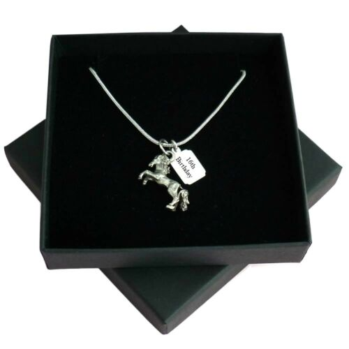 Personalised Horse Necklace Horse Pendant Equestrian Any Engraving Pony