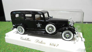 CADILLAC-POLICE-nr-1-43-AGE-D-039-OR-SOLIDO-FRANCE-4057-voiture-miniature-collection