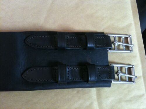 3 Fold Leather Girth With Keepers for outside girthing Side Saddle Sidesaddle