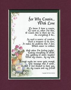 A Birthday Gift Present Poem For A Cousin With Love Gift