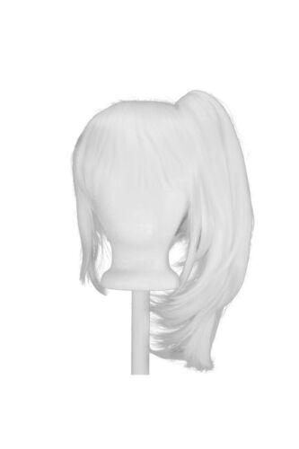 12/'/' Bob Cut Base Wig Set Snow White NEW 16/'/' Straight Pony Tail