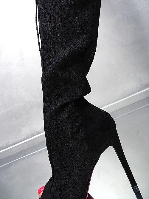 NEU HOHE Overknee Lang Stiefel Damen High Stiefel N57 Schuhe Schwarz High Damen Heels 37 3849c6