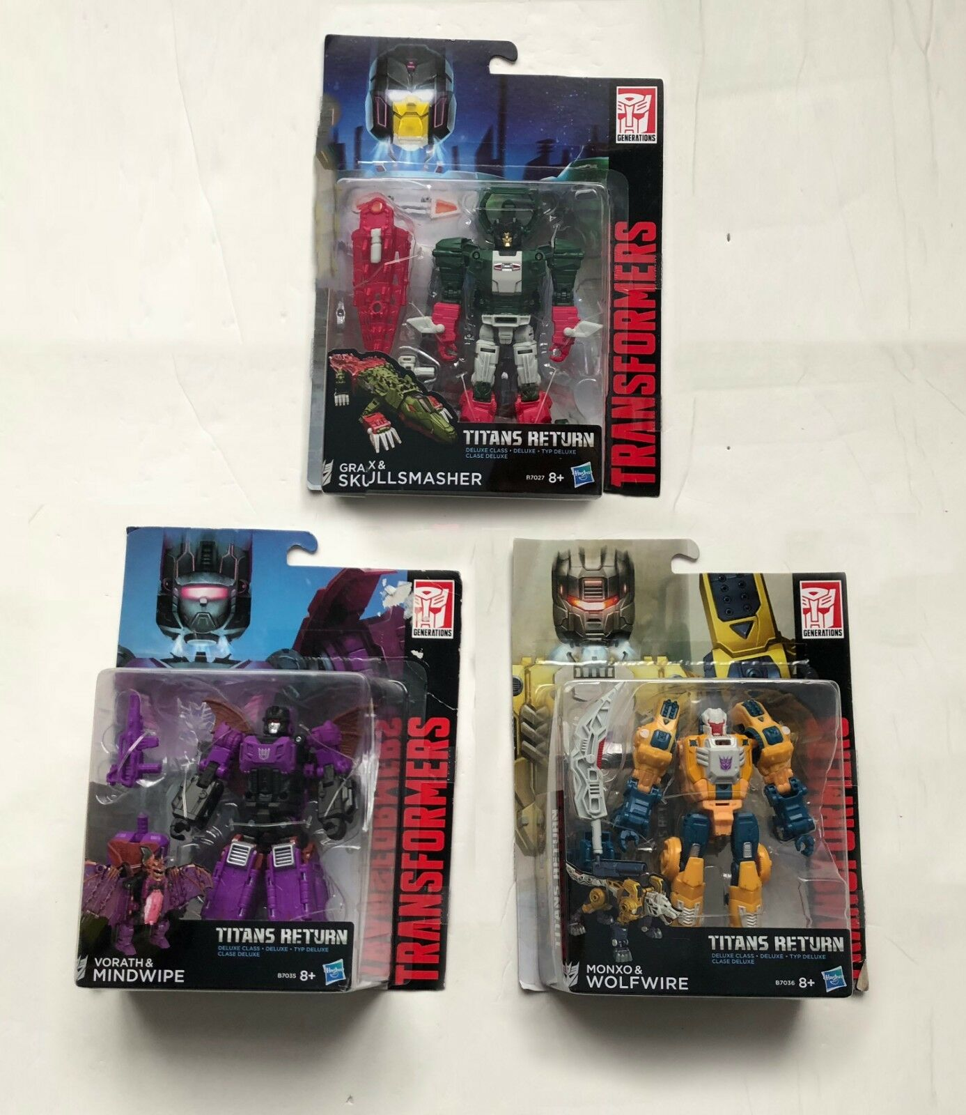 Transformers Titan Returns Deluxe Deluxe Deluxe Wolfwire, Mindwipe and Skullsmasher 870342