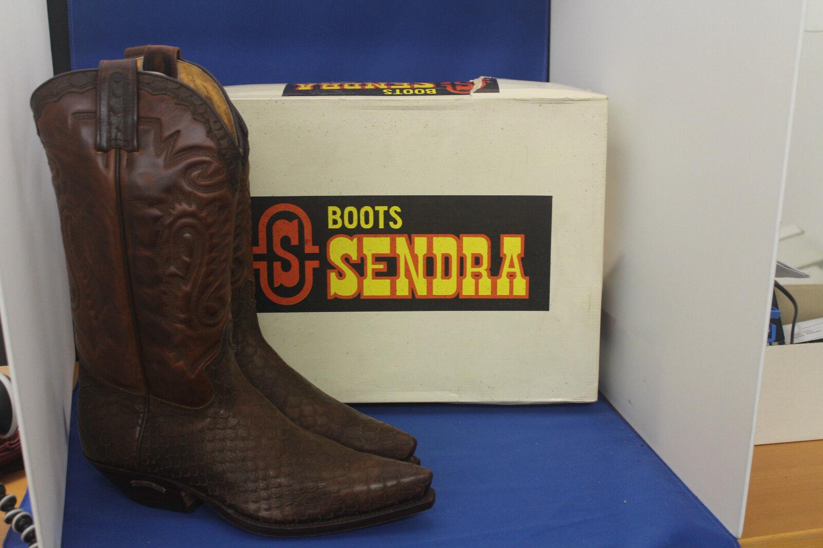 Sendra botas vaqueras botas Western botas nuevo Strauss marrón Cowboy botas GR. 45
