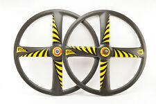 "4 spoke Corima Carbon 28"" tubular Wheelset from the 1990s"
