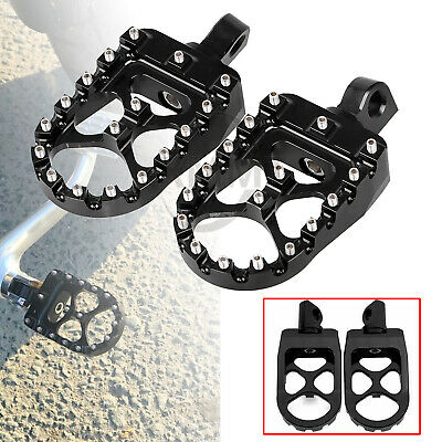 Vivid Black MX Style Wide Fat Foot Pegs Footrests for Harley Dyna Fatboy FLSTF