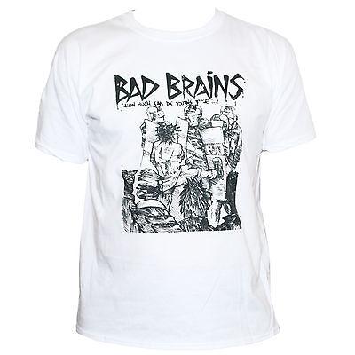 BAD BRAINS T SHIRT Punk Rock Fugazi Minor Threat Fishbone Band Graphic Tee Men/