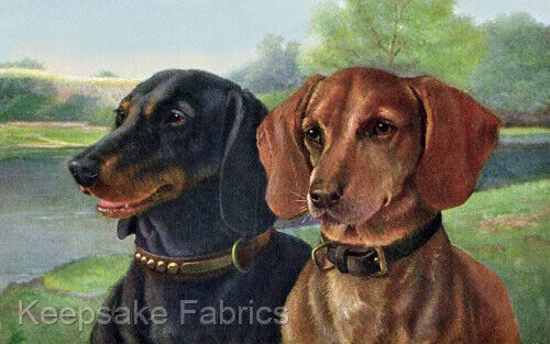 Dachshunds Lakeside Portrait Crazy Quilt Block Multi Sz FrEE ShiPPinG WoRld WiDE