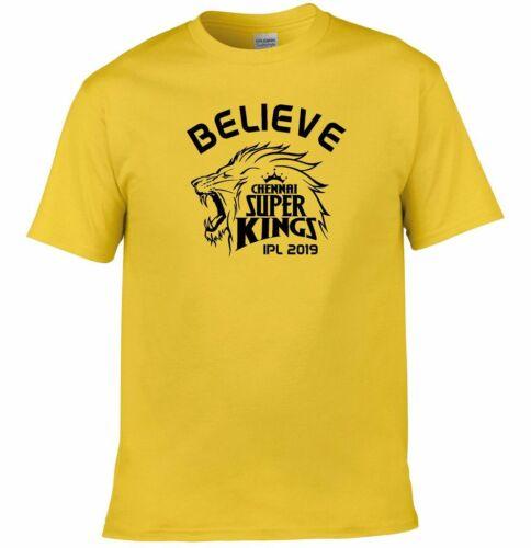 Believe Chennai Super Kings IPL 2019 Cricket T-Shirt Mens